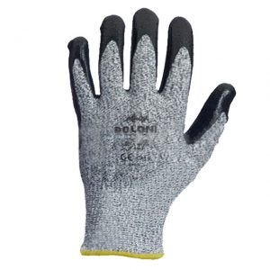 Mănuși acoperite cu nitril sur/Negru