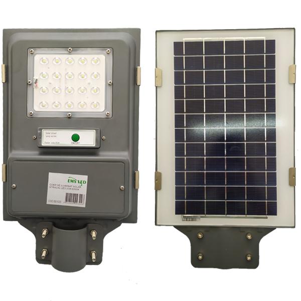 Corp de iluminat stradal solar LED 20 W 6500K EMS