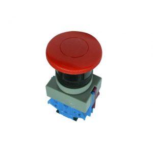 Buton ABW411 220V roșu