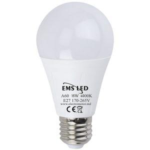 Bec LED 15W A60 4000K E27 EMS