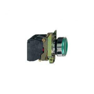 Buton XB4BW33B5 24 V verde Schneider