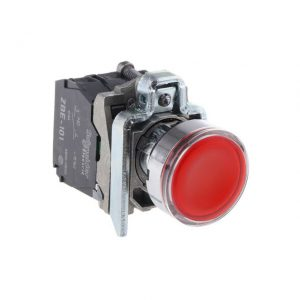 Buton NI+ND 220V roșu Schneider