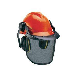 Cască de protecție + Mască rosu/Negru Einhell