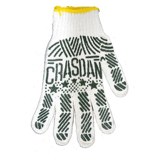 Mănuși cu aplicații PVC alb/Verde
