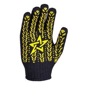 Mănuși cu aplicații PVC galben/Negru
