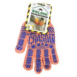 Mănuși cu aplicații PVC orange/Albastru