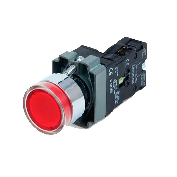 Buton rosu 1NC neon LA167-B2-BW3361 Nominal