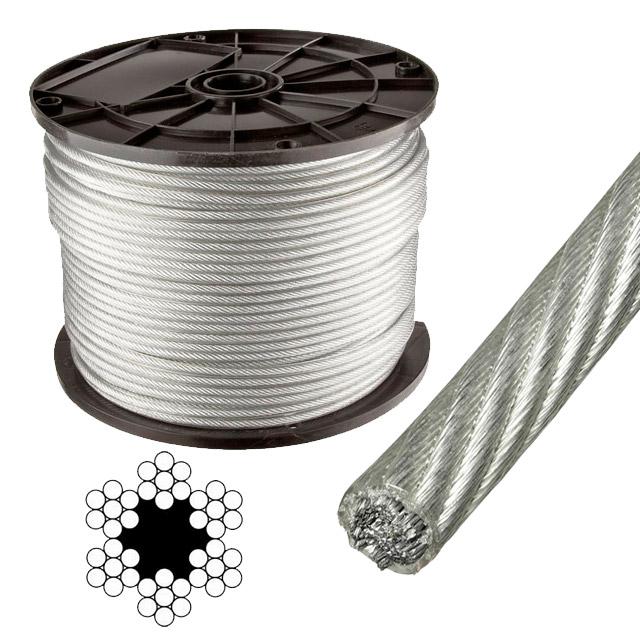 Cablu de oţel 4-5 mm 6x7